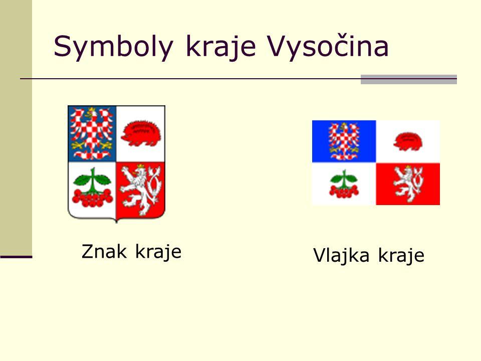 Symboly kraje Vysočina Znak kraje Vlajka kraje