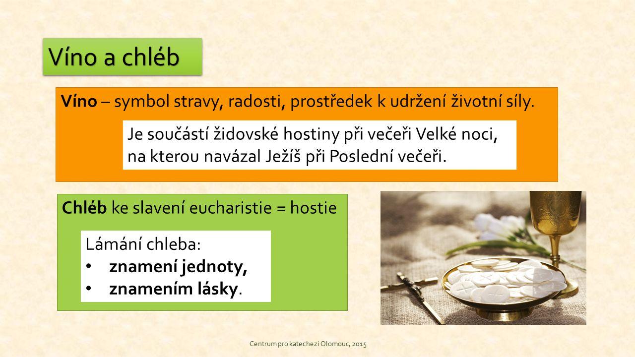 VodaVoda Centrum pro katecheti Olomouc, 2015 Voda – symbol života a současně stojatá voda – podléhá zkáze Při liturgii: voda přimíchaná do vína -symbol Kristovy smrti, -symbol našeho lidství, -symbol naší oběti.