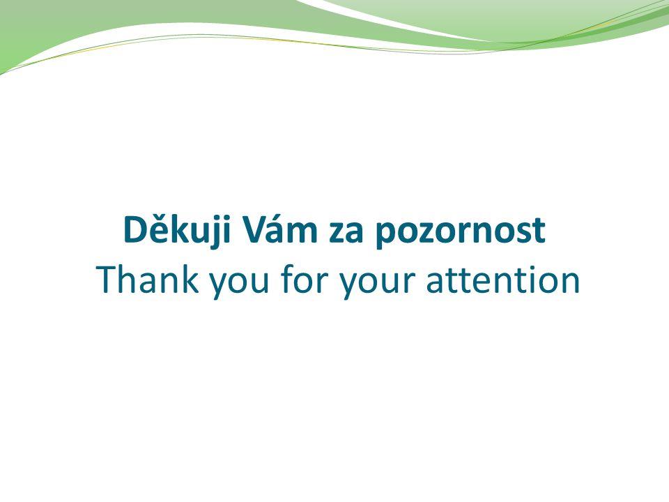 Děkuji Vám za pozornost Thank you for your attention