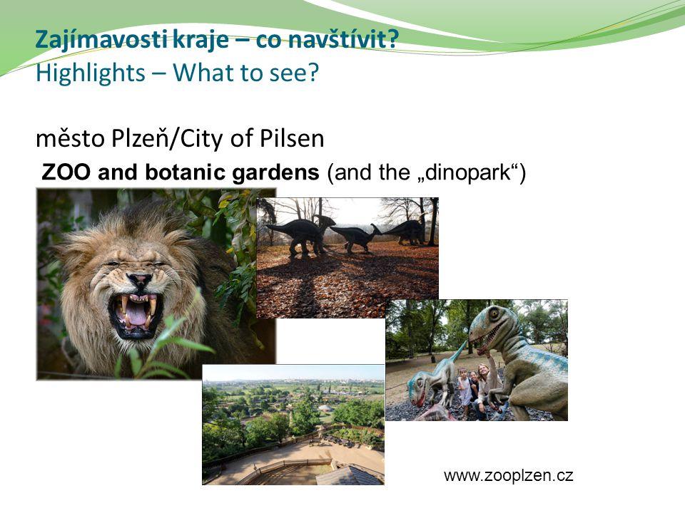 """Zajímavosti kraje – co navštívit? Highlights – What to see? město Plzeň/City of Pilsen ZOO and botanic gardens (and the """"dinopark"""") www.zooplzen.cz"""