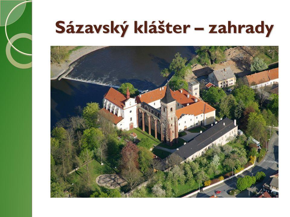 Sázavský klášter – zahrady