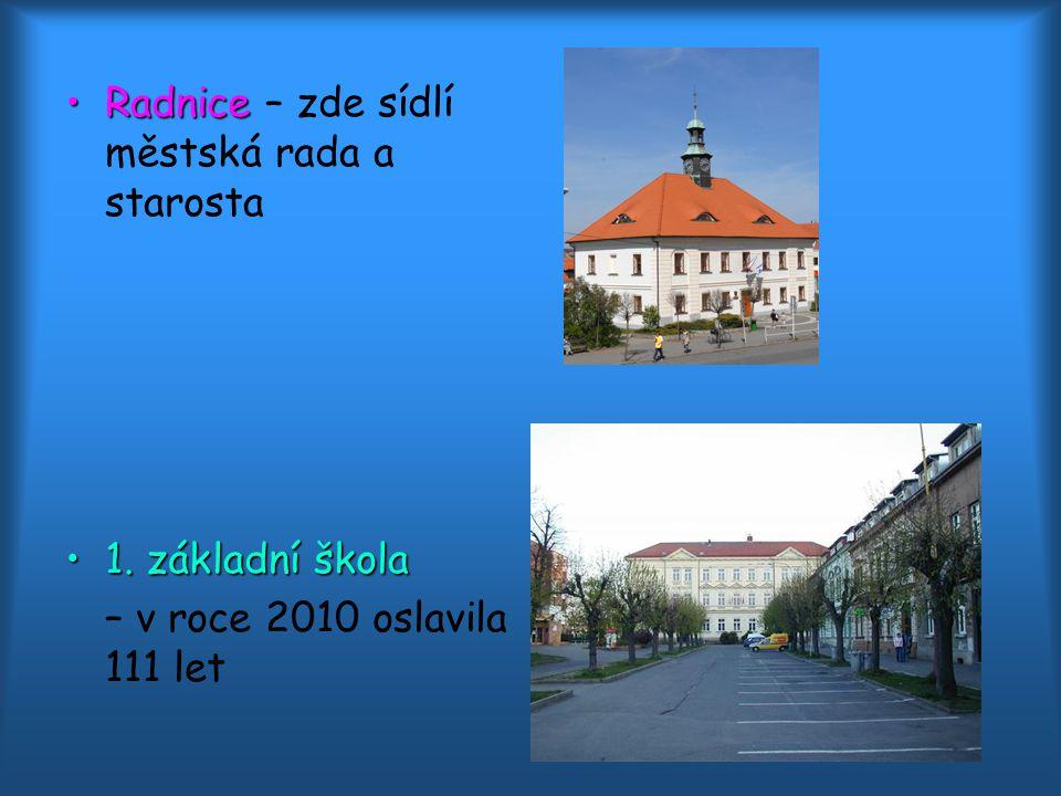 RadniceRadnice – zde sídlí městská rada a starosta 1.