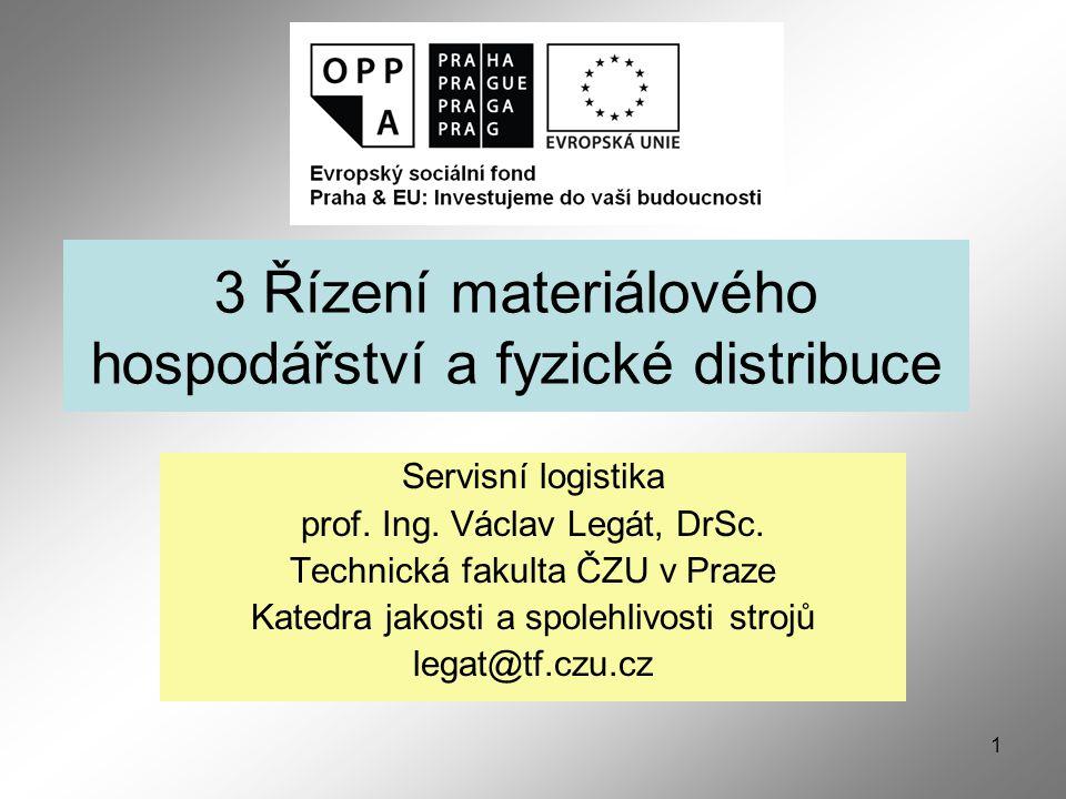 1 3 Řízení materiálového hospodářství a fyzické distribuce Servisní logistika prof.