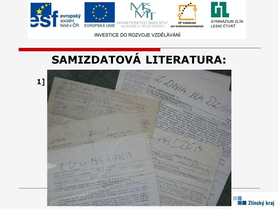 EXILOVÁ LITERATURA:  latinsky EXILIUM = vyhnanství, nucený odchod  náboženské a politické důvody přiměly během posledních čtyř století k odchodu do exilu také řadu českých spisovatelů  stejné to bylo i po okupaci ČSSR vojsky VARŠAVSKÉ SMLOUVY a v době NORMALIZACE  mnozí z emigrantů - spisovatelů se snažili tvořit i v novém domově  důsledkem jejich činnosti byl vznik několika nakladatelství, ve kterých byla vydávána díla českých autorů, mluvíme o EXILOVÉ LITERATUŘE a EXILOVÝCH NAKLADATELSTVÍCH  ta vznikala na západ od našich hranic, zejména v západní Evropě, USA a Kanadě  podmínky exilové literatury byly lepší než podmínky některých autorů v tehdejším ČESKOSLOVENSKU  autoři v emigraci sice mohli tvořit svobodně a bez cenzury, chyběl jim však kontakt s českým čtenářským prostředím  zpět do Čech se dostávala jen malá část nákladu, a to ilegálně a pouze k omezené skupince příjemců  nejvýznamnějším exilovým vydavatelstvím bylo 68 - PUBLISHERS v TORONTU (založili ho J.