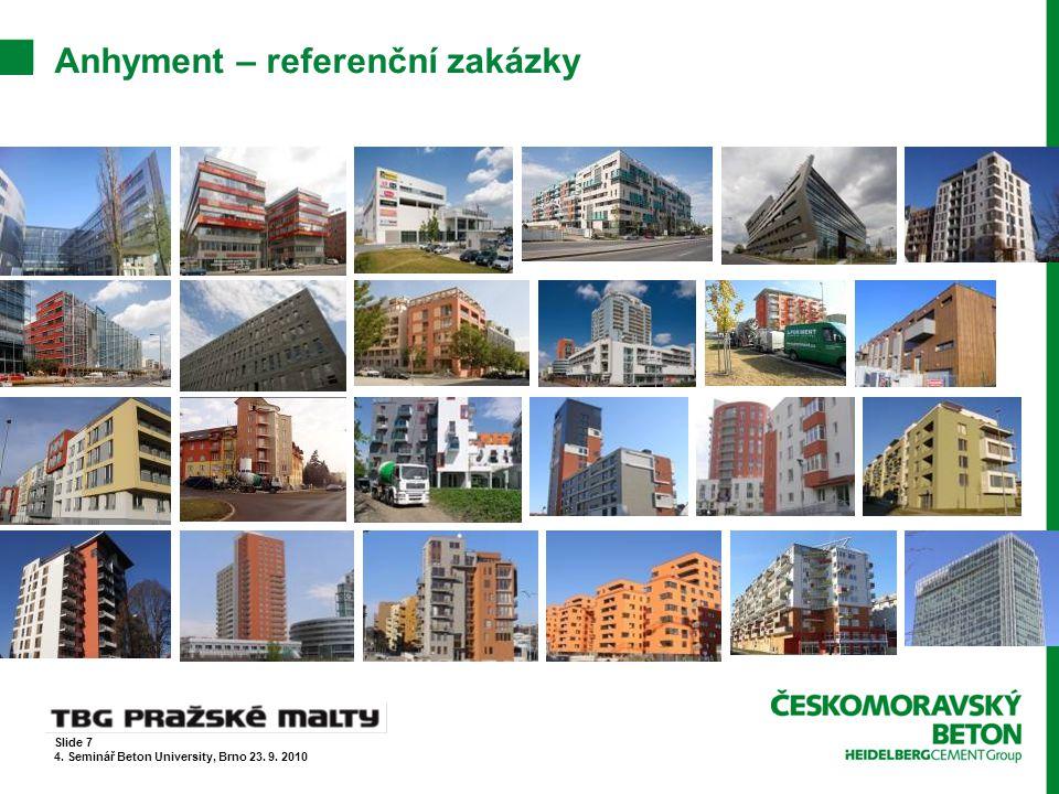 CemFlow – referenční zakázky  Polyfunkční dům Ústí nad Labem Slide 18 4.