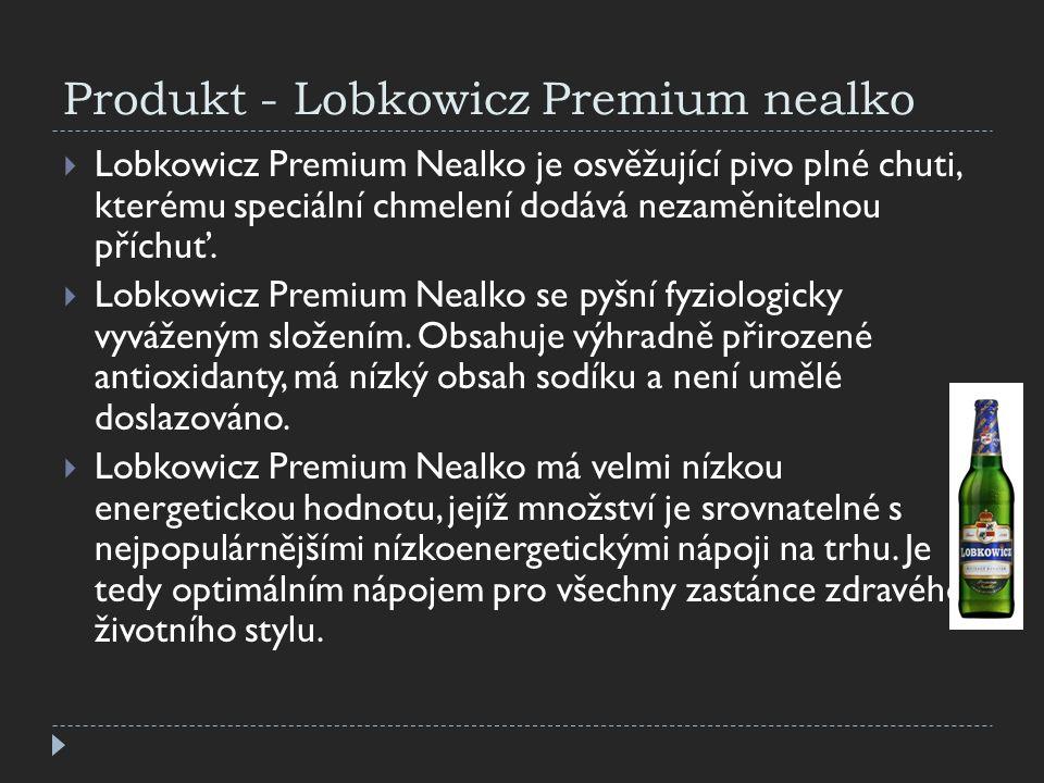 Produkt - Lobkowicz Premium nealko  Lobkowicz Premium Nealko je osvěžující pivo plné chuti, kterému speciální chmelení dodává nezaměnitelnou příchuť.