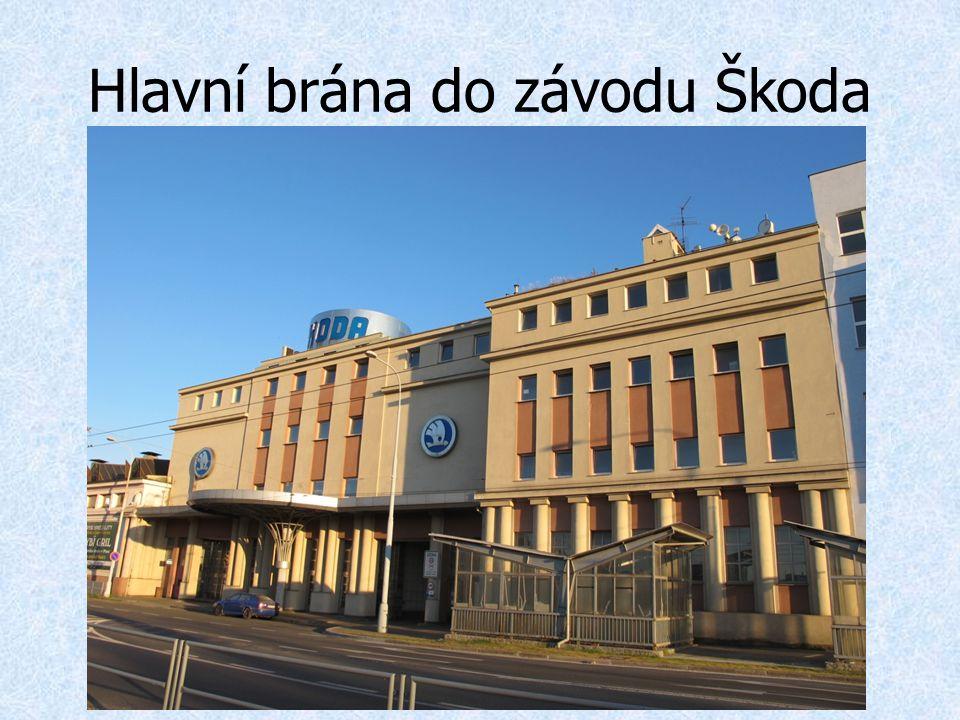 Hlavní brána do závodu Škoda