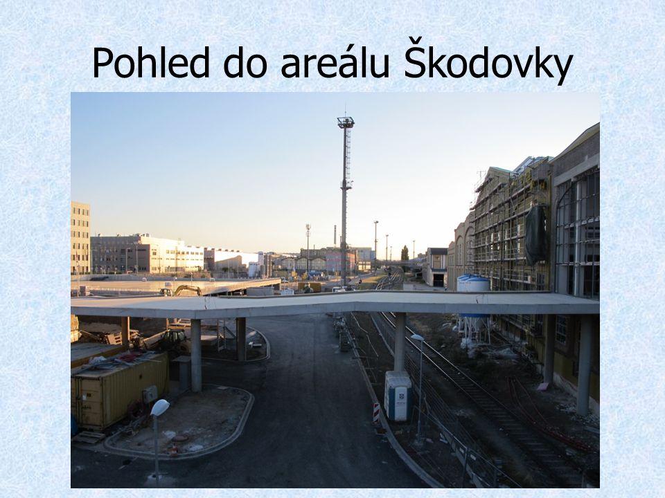 Pohled do areálu Škodovky