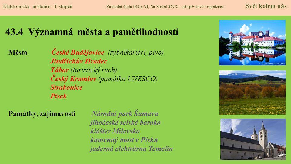 43.4 Významná města a pamětihodnosti Elektronická učebnice - I.