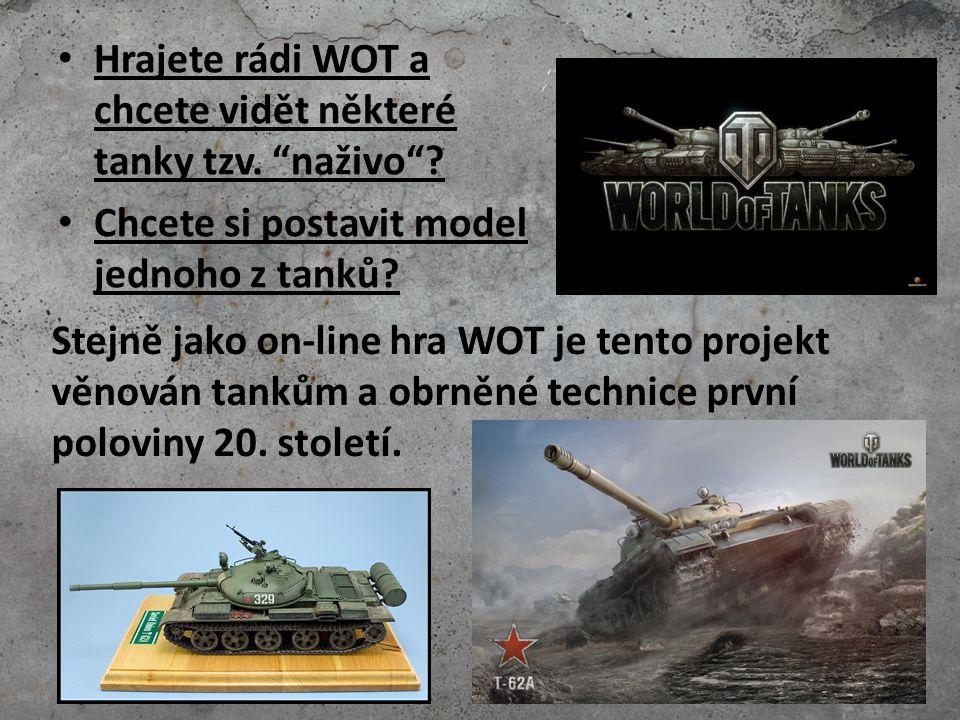 Den 1 - stavba modelu Každý z Vás si postaví model tanku v měřítku 1/72 (stejné jako bunkry min.