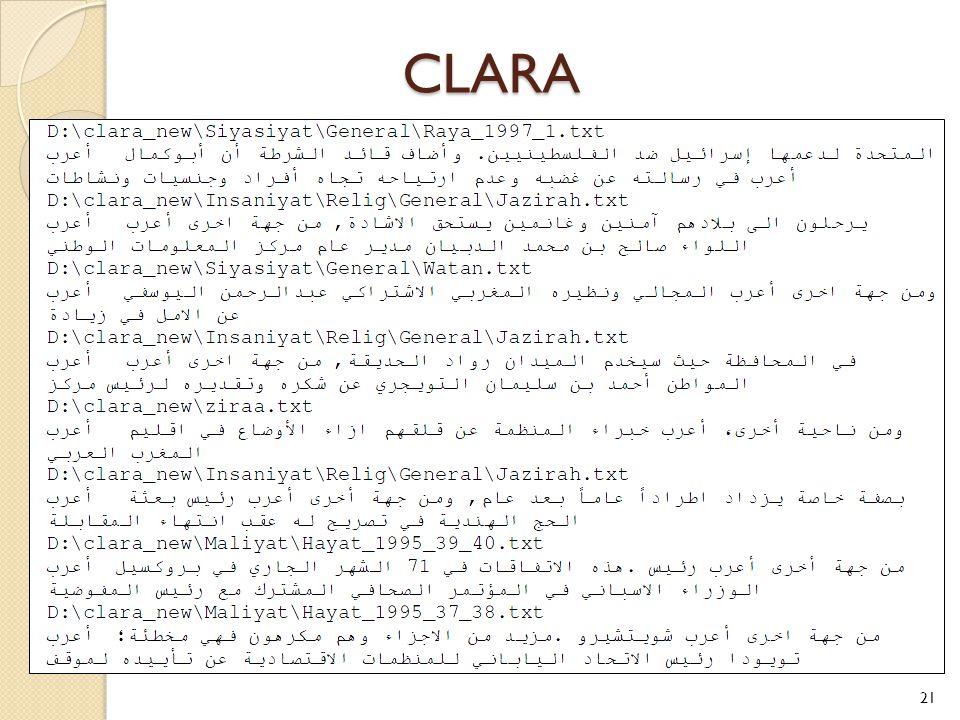CLARA 21