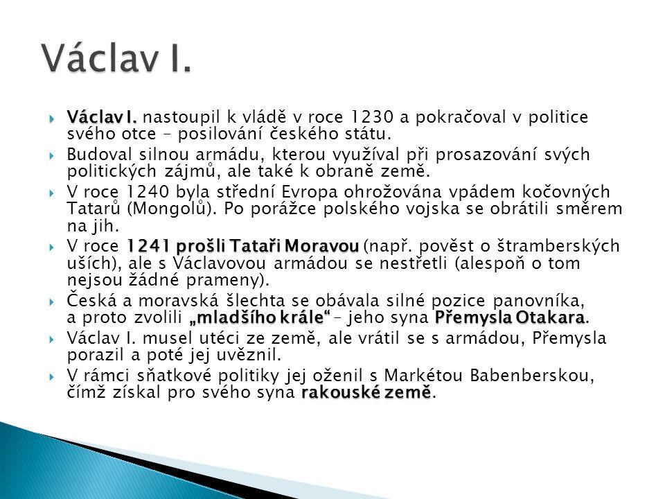  1) Urči politickou pozici českého království ve střední Evropě.
