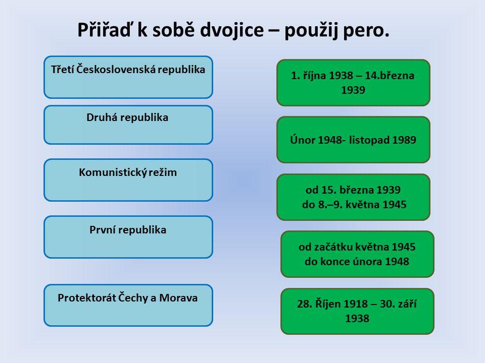 od 15. března 1939 do 8.–9. května 1945 28. Říjen 1918 – 30.