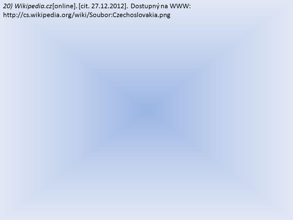 20) Wikipedia.cz[online]. [cit. 27.12.2012].