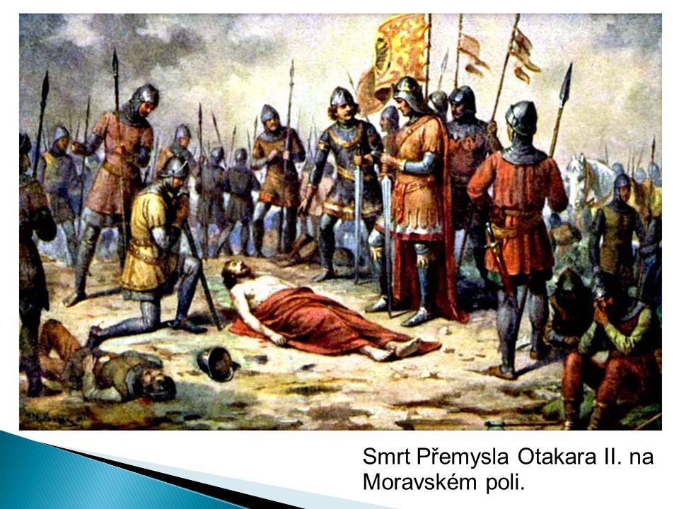 Smrt Přemysla Otakara II. na Moravském poli.