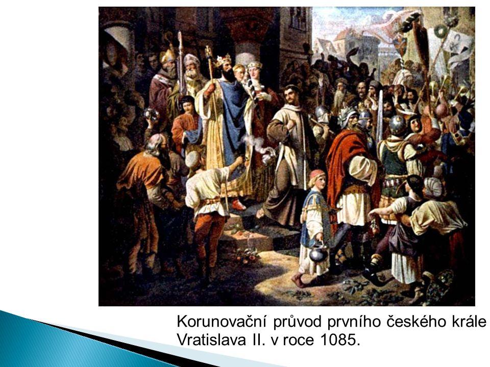 Korunovační průvod prvního českého krále Vratislava II. v roce 1085.