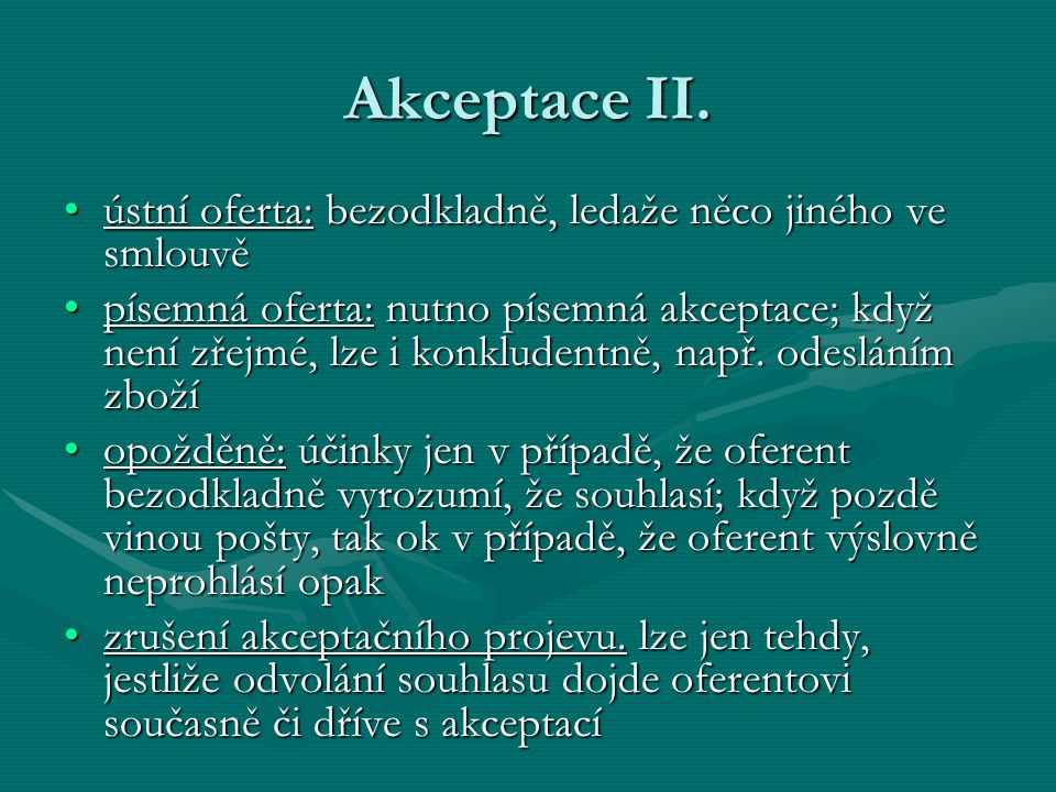 Akceptace II.
