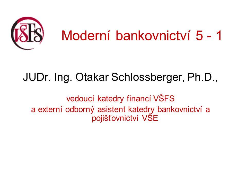 Moderní bankovnictví 5 - 1 ad 3) Bankovní záruka O bankovní záruce jsme již hovořili v rámci závazkových úvěrů.