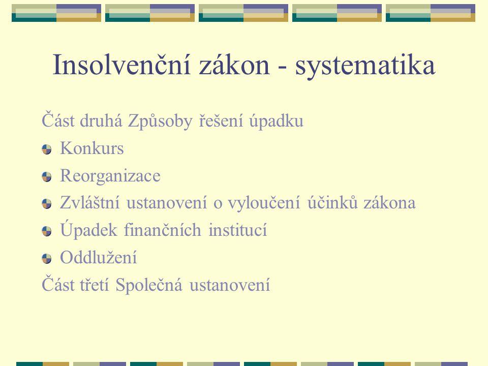 Procesní subjekty Insolvenční správce Osoba zapsaná do seznamu insolvenčních správců.