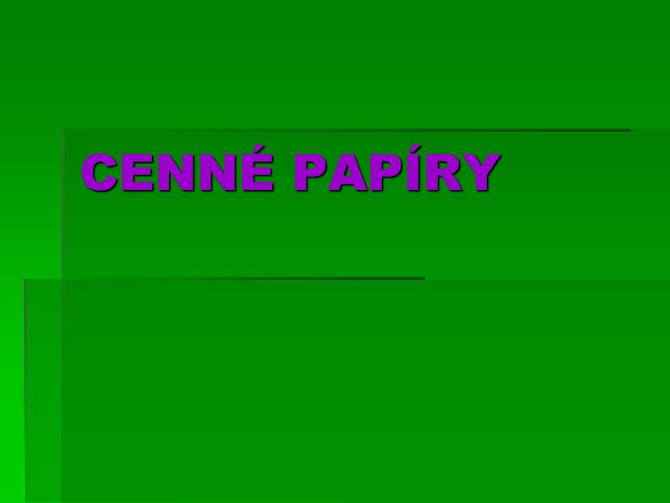 CENNÉ PAPÍRY