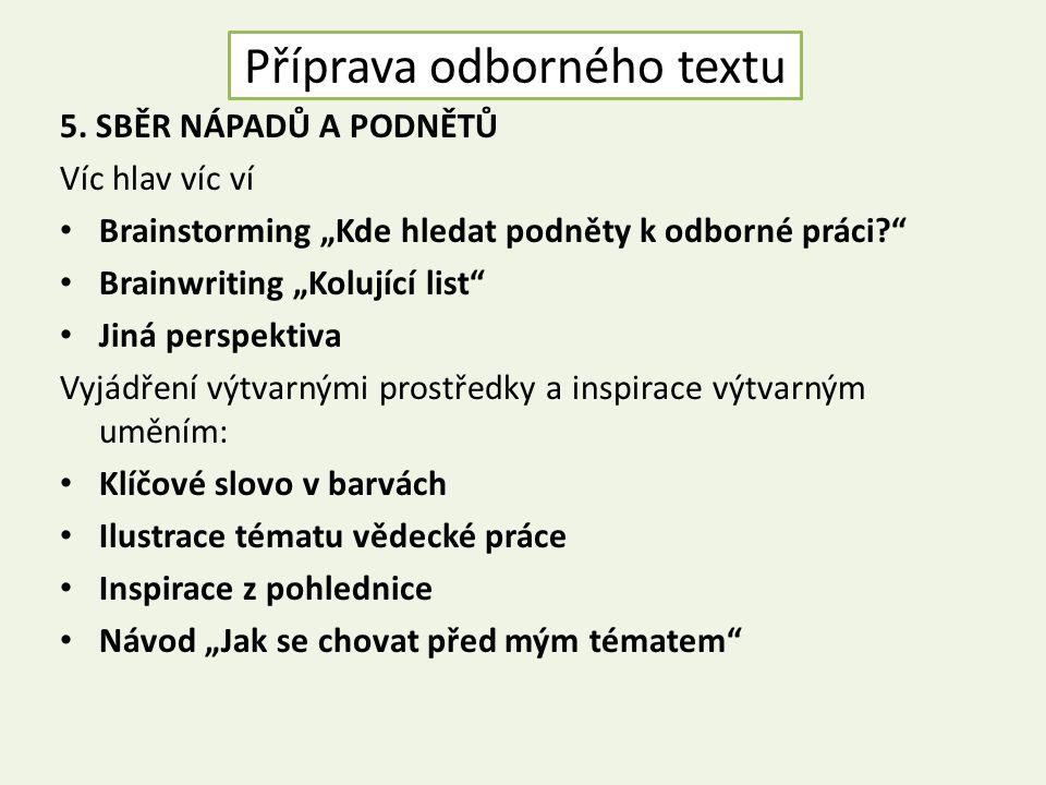 Příprava odborného textu 5.
