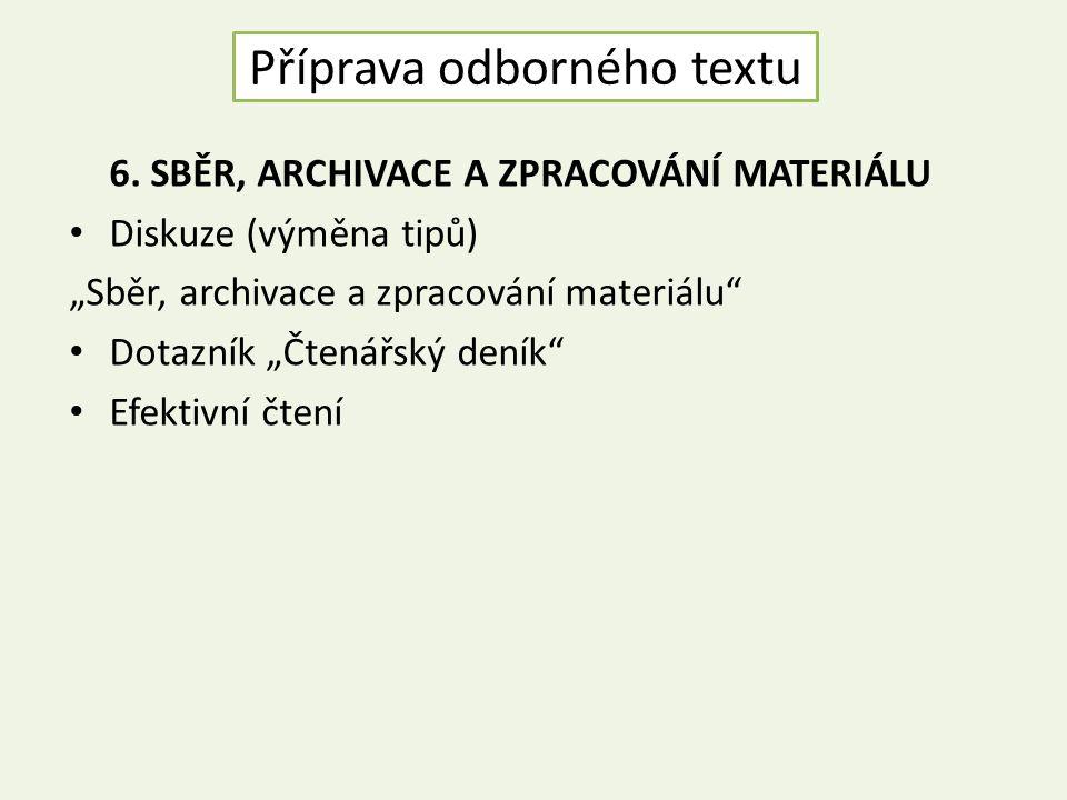 Příprava odborného textu 6.