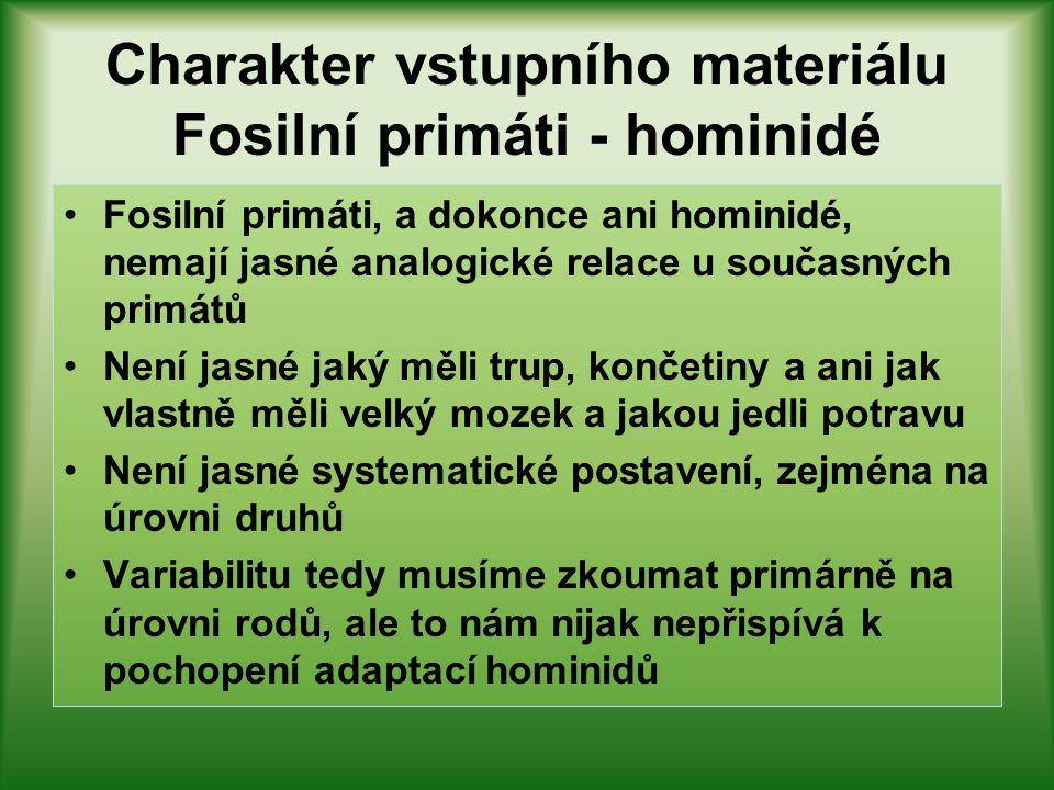 Variabilita poměru segmentů – Homo habilis??? OH 62 – nejsou data