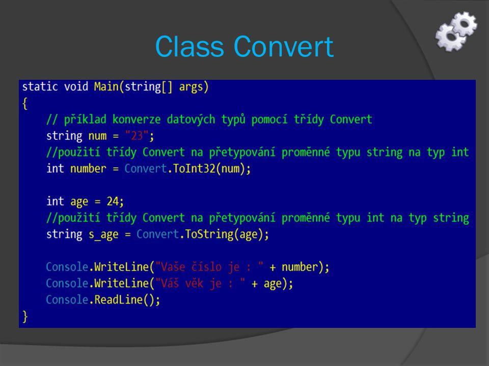 Class Convert