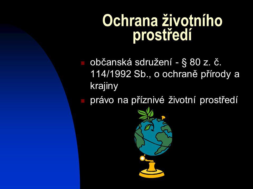 Ochrana životního prostředí občanská sdružení - § 80 z.