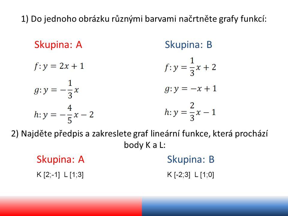 1) Řešení: Skupina: A Skupina: B graf: