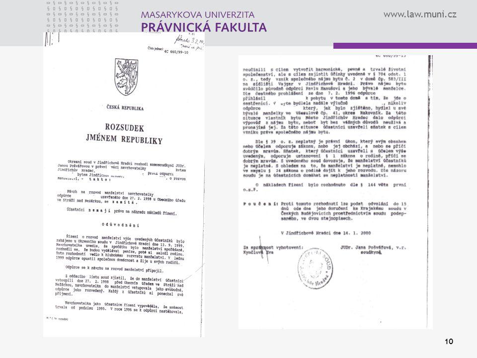 www.law.muni.cz 10