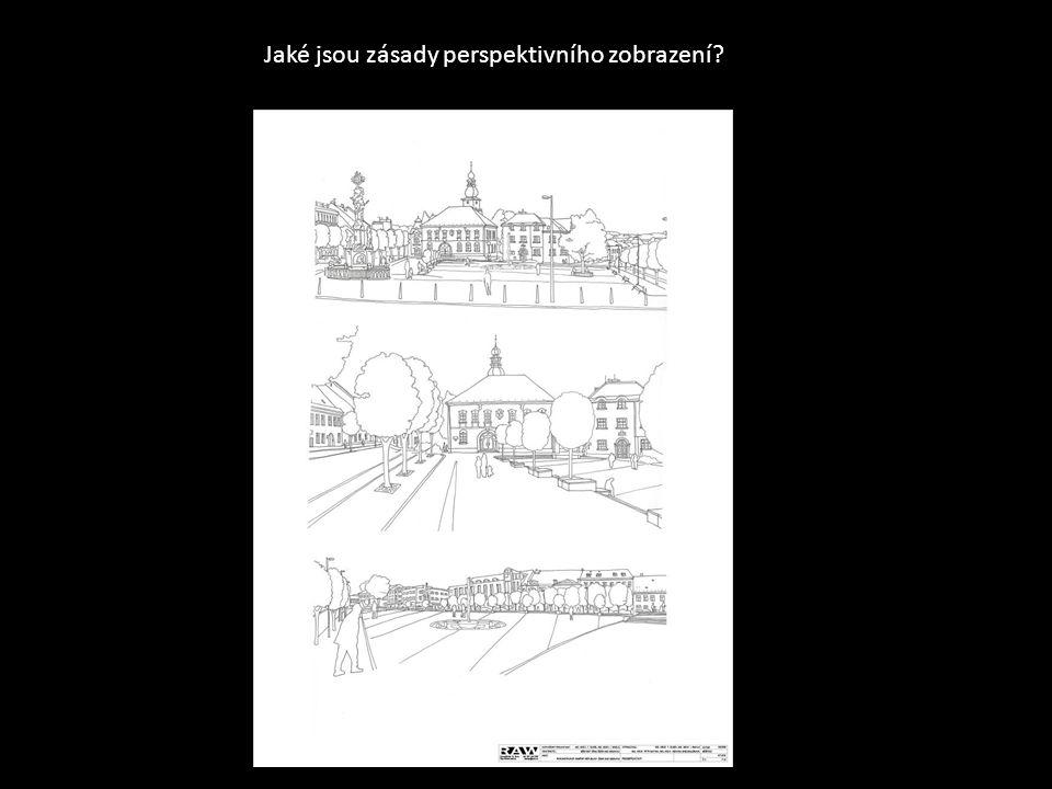Jaké jsou zásady perspektivního zobrazení?
