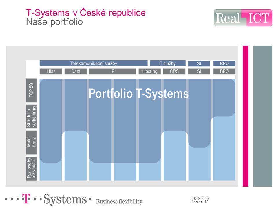 Strana 12 ISSS 2007 T-Systems v České republice Naše portfolio