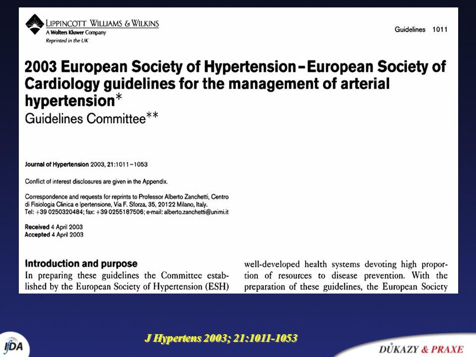 J Hypertens 2003; 21:1011-1053