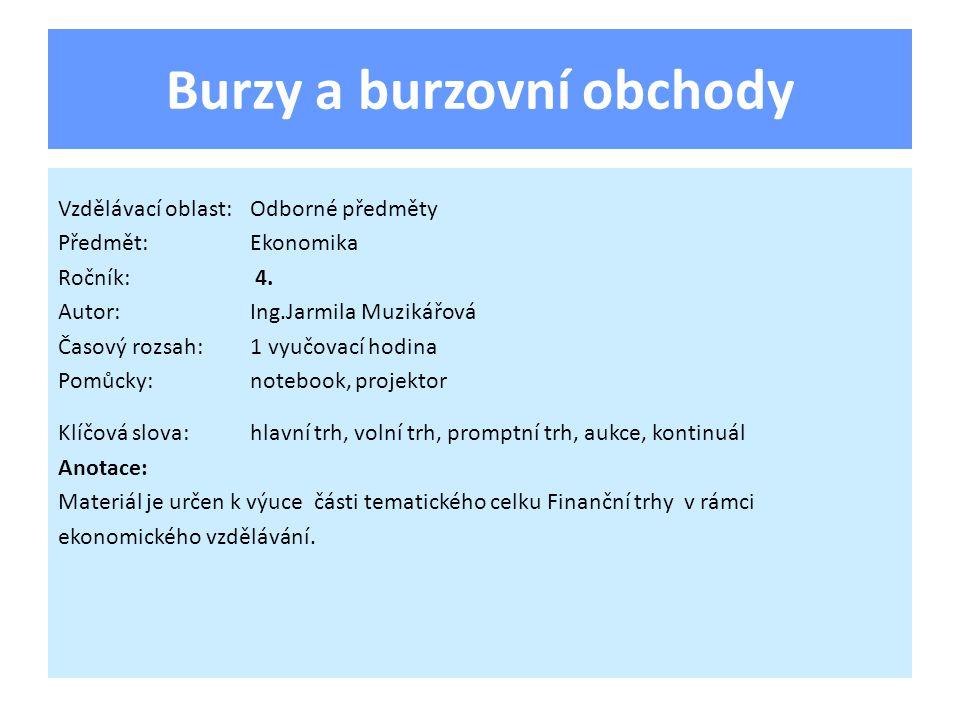 Burza cenných papírů Praha,a.s.