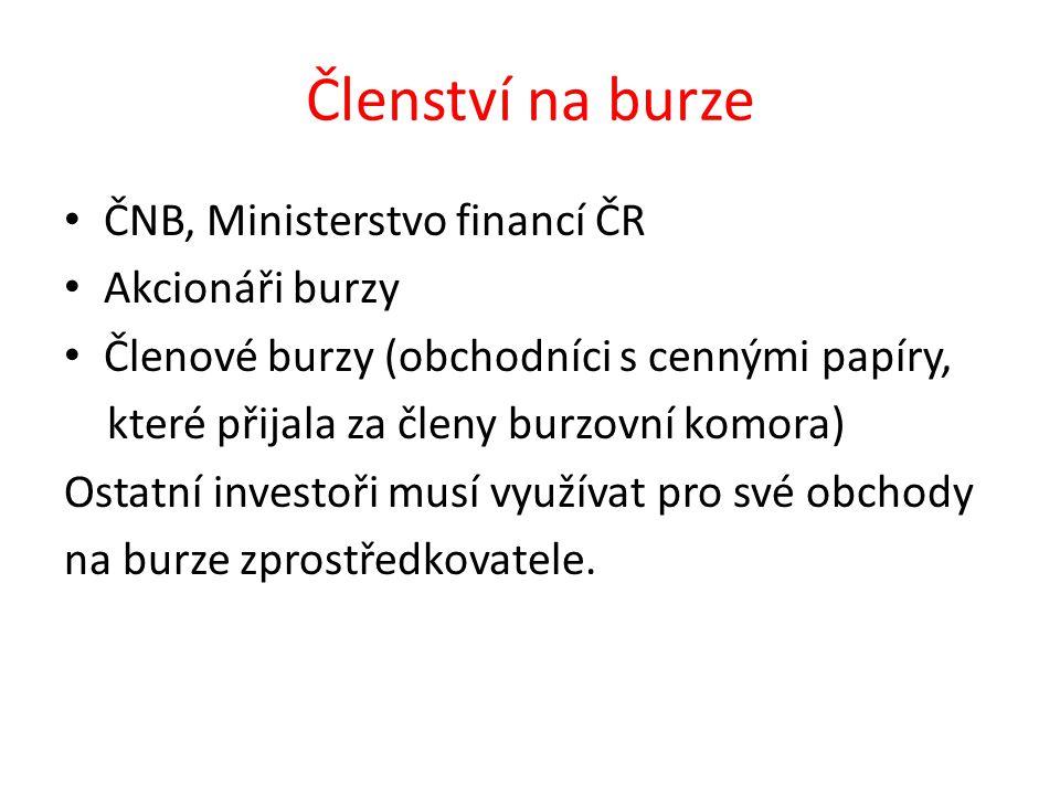 Trh cenných papírů obchodovaných na BCPP,a.s.1.