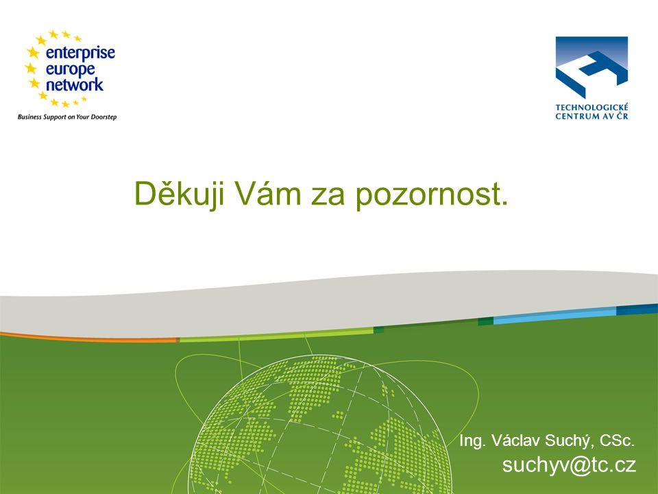 Ing. Václav Suchý, CSc. suchyv@tc.cz Děkuji Vám za pozornost.