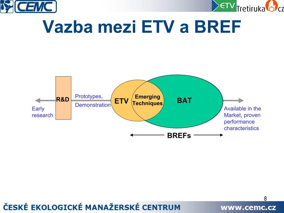 8 Vazba mezi ETV a BREF ČESKÉ EKOLOGICKÉ MANAŽERSKÉ CENTRUM www.cemc.cz