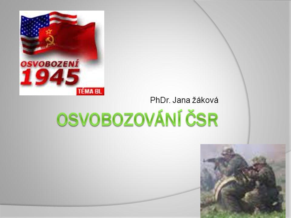  Od listopadu 1944 pokračovala Rudá armáda v osvobozování Slovenska  Hlavní směry - VARŠAVA – BERLÍN BUDAPEŠŤ – VÍDEŇ Koncem r.