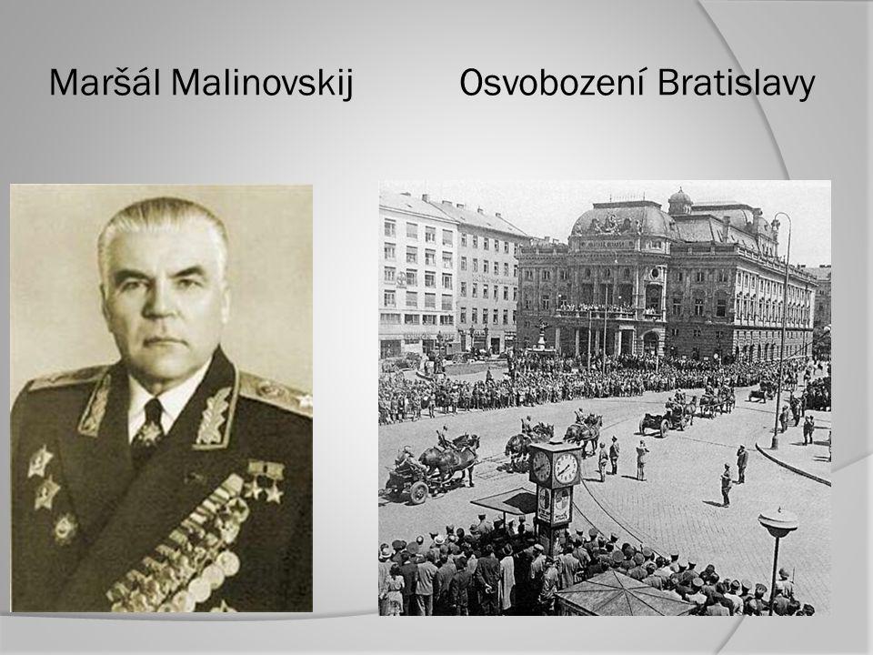 Maršál Malinovskij Osvobození Bratislavy