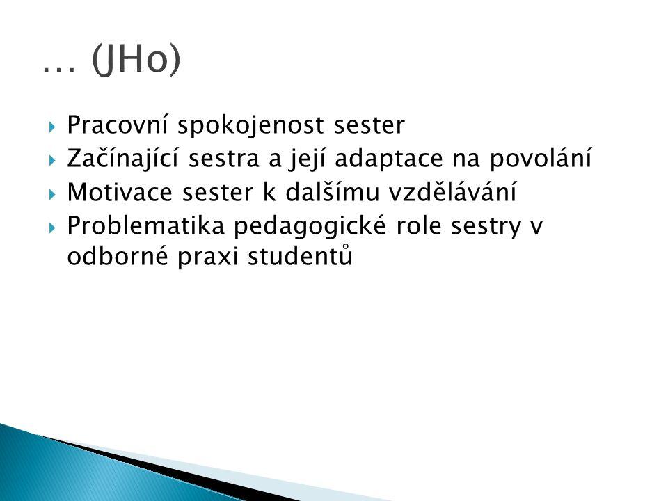 Gynekologie – porodnictví:  Ošetřovatelská péče o ženu s diagnózou: - abdominální hysterektomie pro uterus myomatosus - stresová inkontinence - karcinom ovaria Porodnictví: - klešťový porod - císařský řez - komplikace po porodu v domácnosti Další diagnózy dle dohody s vedoucím práce.