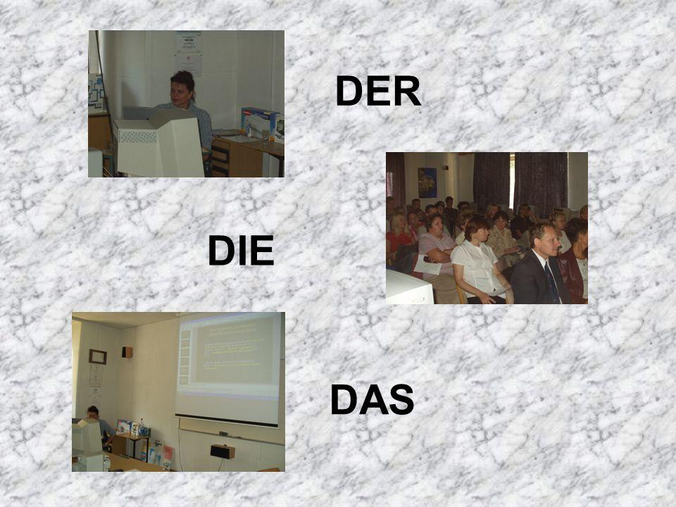 DIE DER DAS