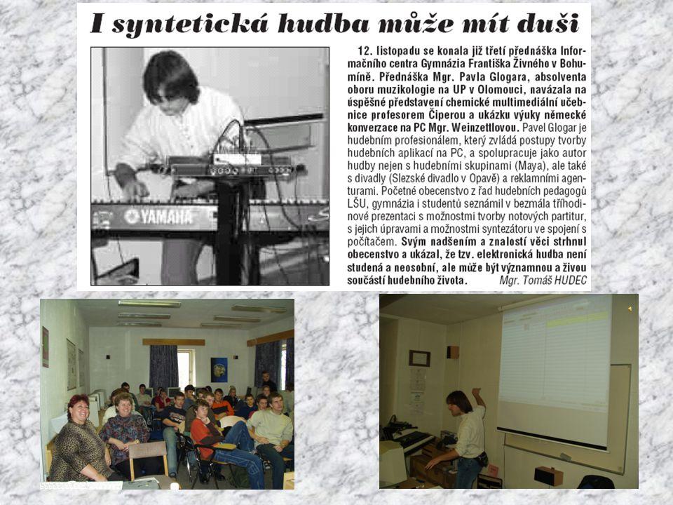 4.akce Využití ICT ve výuce VVP na ZŠ Mgr. Tomáš Hudec Gymnázium Františka Živného Bohumín 6.