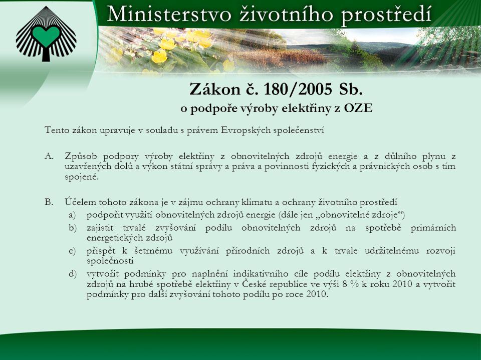 Zákon č. 180/2005 Sb.