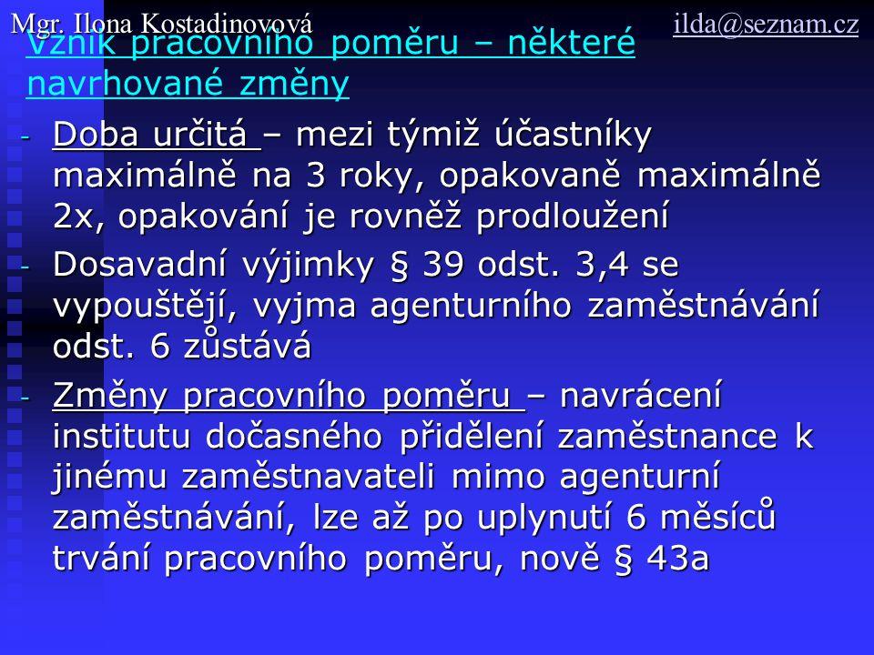 Jmenování, § 33 odst.3, § 73 ZP 1.