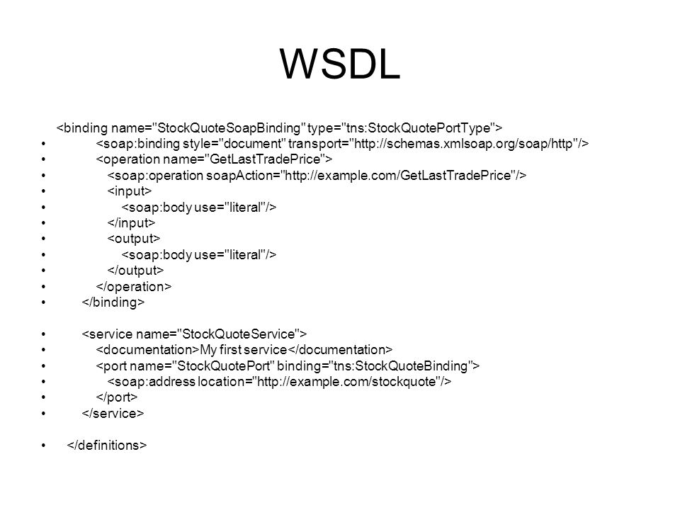 WSDL My first service