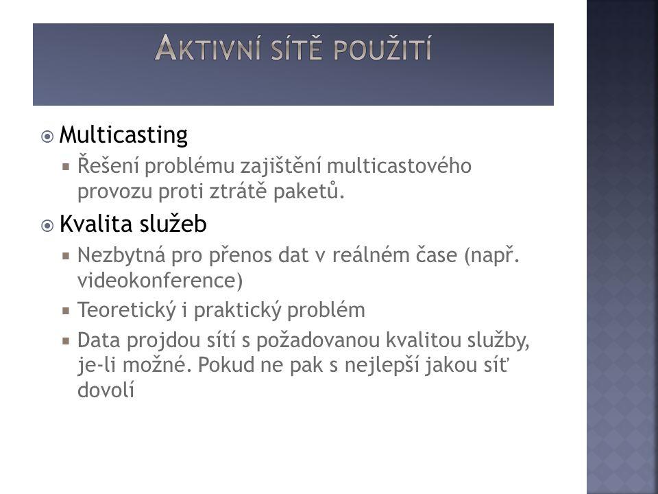  Multicasting  Řešení problému zajištění multicastového provozu proti ztrátě paketů.
