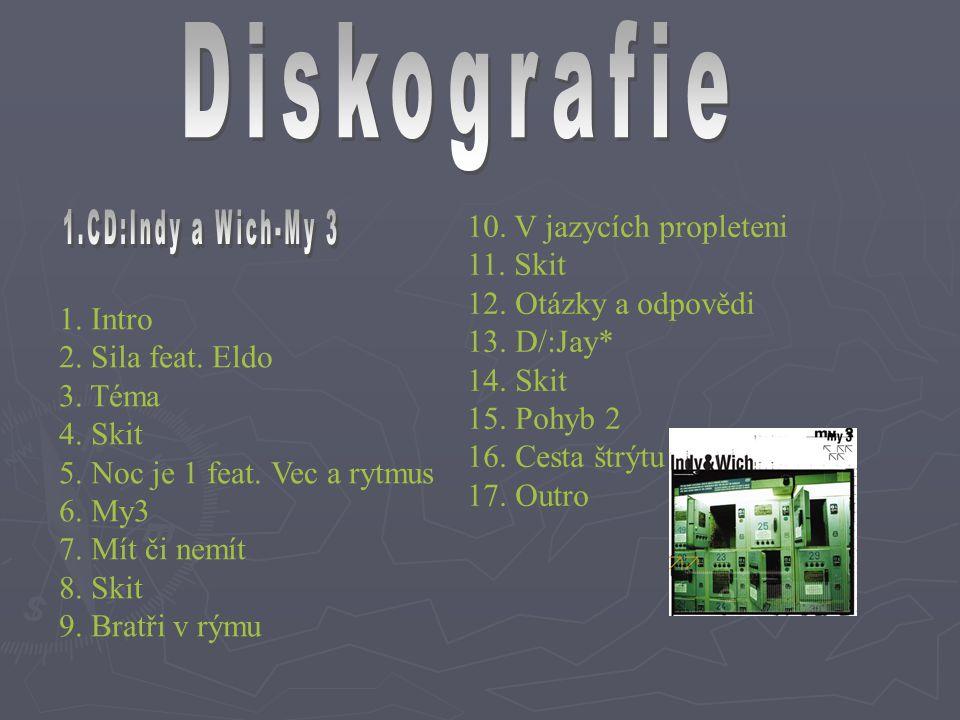 1. Intro 2. Sila feat. Eldo 3. Téma 4. Skit 5. Noc je 1 feat. Vec a rytmus 6. My3 7. Mít či nemít 8. Skit 9. Bratři v rýmu 10. V jazycích propleteni 1