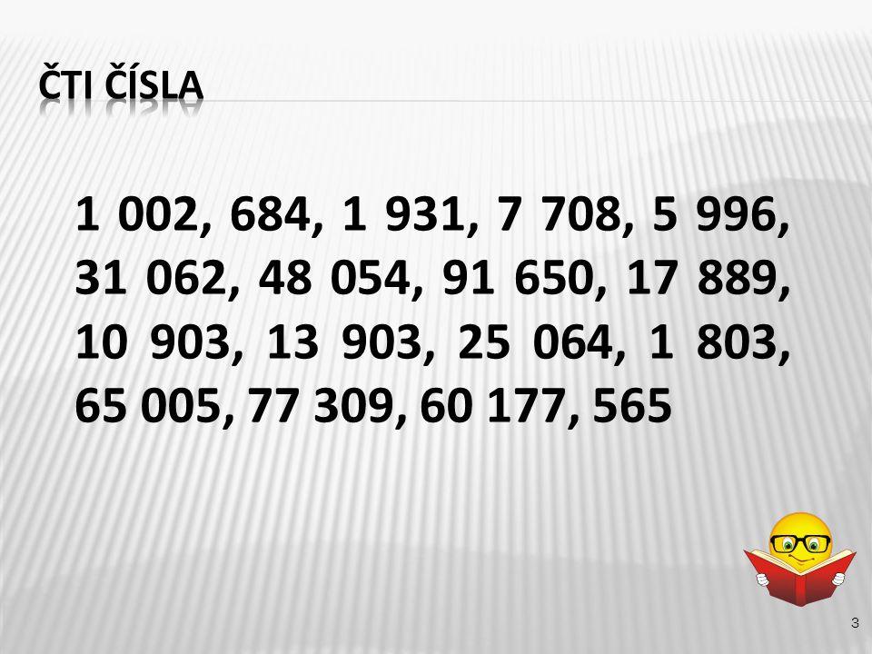 3 1 002, 684, 1 931, 7 708, 5 996, 31 062, 48 054, 91 650, 17 889, 10 903, 13 903, 25 064, 1 803, 65 005, 77 309, 60 177, 565