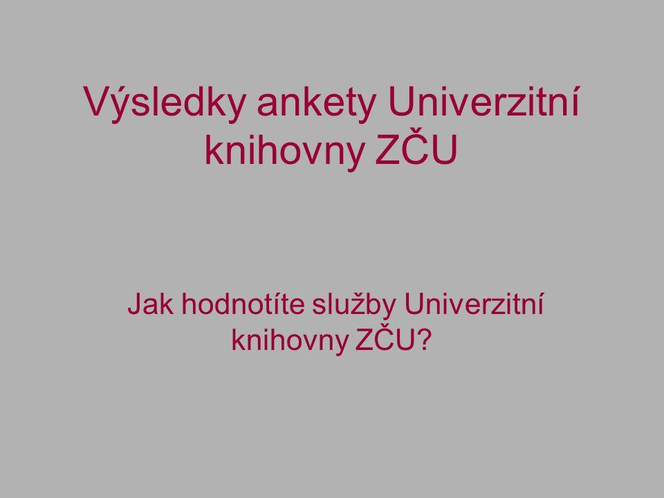 Výsledky ankety Univerzitní knihovny ZČU Jak hodnotíte služby Univerzitní knihovny ZČU?